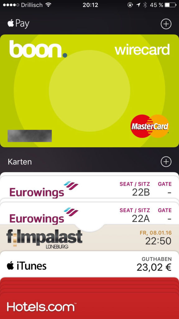 Apple iPhone: Apple Wallet w/ Apple Pay