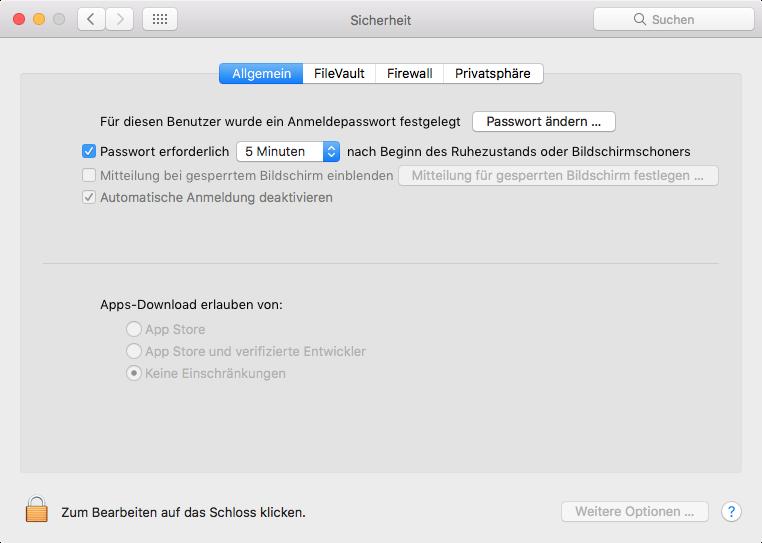 macOS Sierra: Öffnen einer App eines nicht verifizierten Entwicklers
