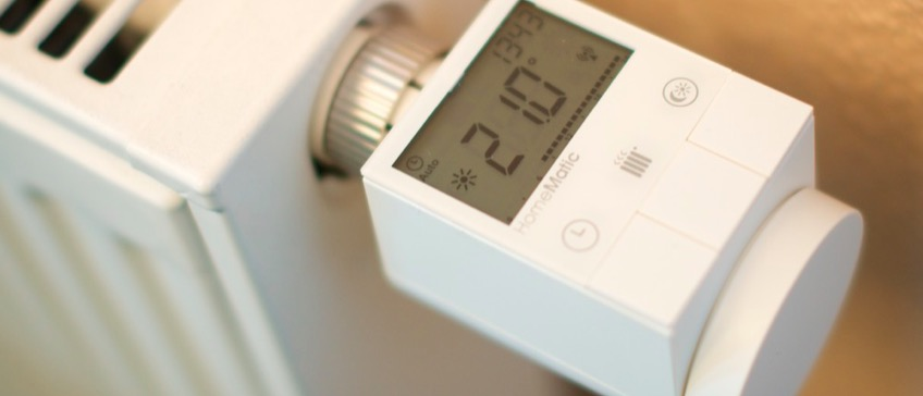 HomeMatic Funk-Heizkörperthermostat an der Heizung angeschlossen